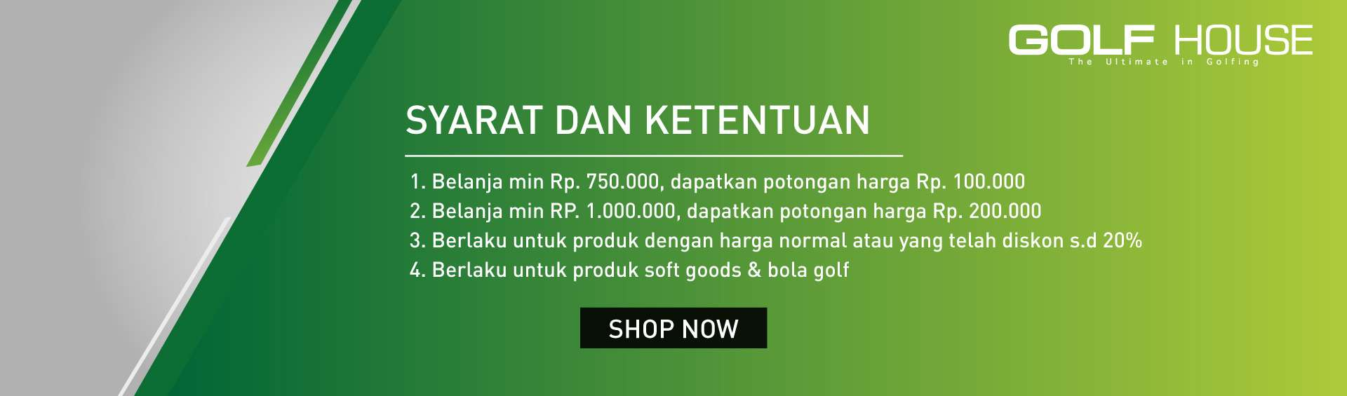 Cash Rebate GOLF HOUSE up to 200K 5-7 Mar