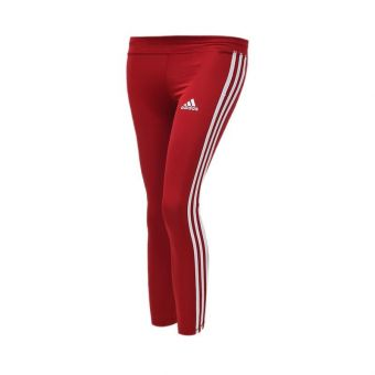 Adidas Training Equipment 3 Stripes Girls' Tights - Burgundy