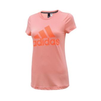 Adidas Must Haves Badge Of Sporty Girl's Training Tee - Pink