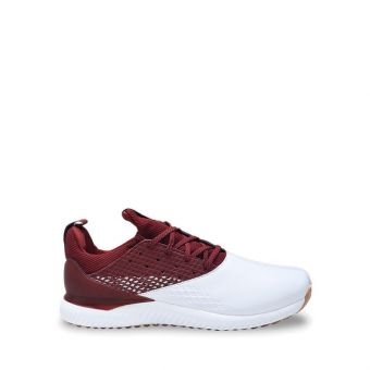 Adidas Golf Adicross Bounce 2 Men's Golf Shoes - White/Burgundy