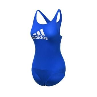 Adidas Badge of Sport Girl's Swimsuit - Blue
