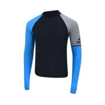 Adidas AM FSP S120 RG Long Sleeve Men's Swimwear - Black Blue