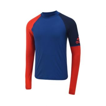 Adidas AM FSP S120 RG Long Sleeve Men's Swimwear - Blue Red