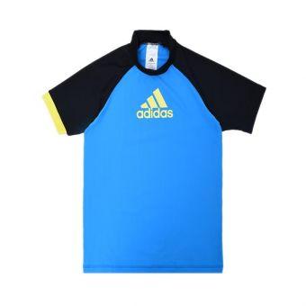 Adidas AM FSP S120 RG Long Sleeve Boys's Swimwear - Blue Black