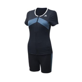 Adidas AF 2120 AFFP Short Sleeve TKI Women's Swimwear - Black White