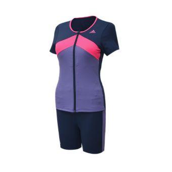 Adidas AF 2120 AFFP Short Sleeve TKI Women's Swimwear - Purple Pink