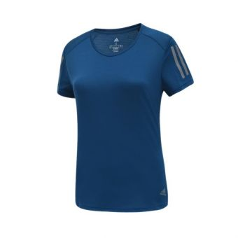 Adidas Own The Run Women's Running Tee - Navy