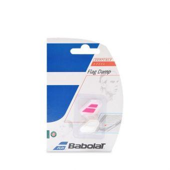 Babolat 2017 Ted Flag Tennis Dampener X2 - White/Pink