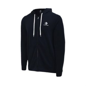 Converse Star Chevron EMB Full Zip Men's Hoodie- Black