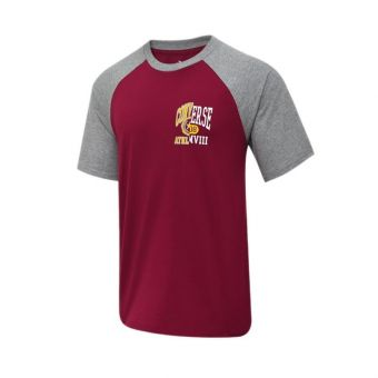 Converse Icon Remix Raglan Men's Tee - Maroon