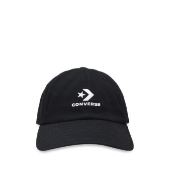 Converse Unisex Lock Up Baseball Cap - Black