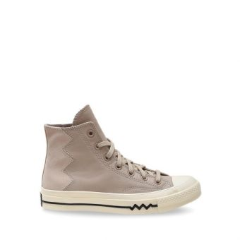 Converse Chuck 70 Vltg Leather And Suede Women's Shoes - Egret