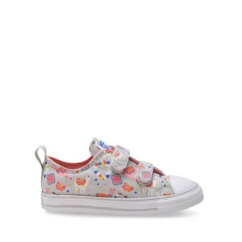 Converse Chuck Taylor All Star 2V Llama Girl's Shoes - White