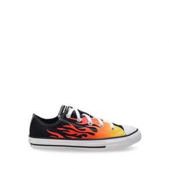 Converse Chuck Taylor All Star Archive Flame Boy's Shoes - Black