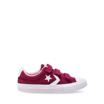 Converse Star Player 3V OX Kid's Sneakers Shoes - Rose Maroon