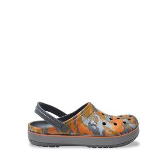 Crocs Crocband Printed Unisex Clog - Charcoal/Orange