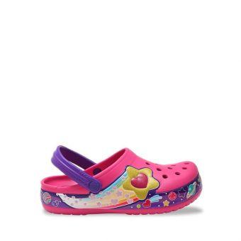 Crocs FL Galactic Heart Girl's Clog - Fuchsia