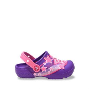 Crocs FL Shooting Star Girl's Clog - Purple