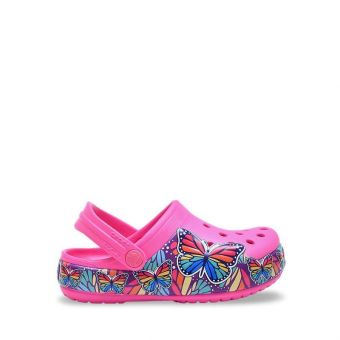 Crocs Fun Lab Girl's Multi Butterfly Band Lights Clog - Pink