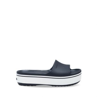 Crocs Unisex Crocband Platform Slide - Black/White