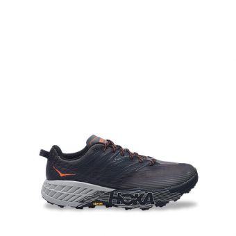 Hoke One One Speedgoat 4 Wide Men's Trail Running Shoes - Grey/Anthcite