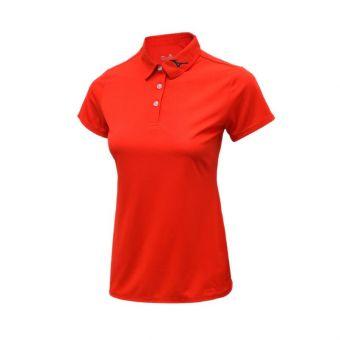 Mizuno Women's Basic Polo - Fiery Red