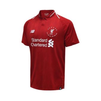 New Balance Liverpool FC 18/19 Home SS Jersey Men's - Red