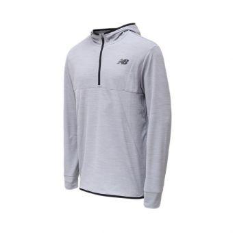 New Balance Tenacity QTR ZIP Men's Hooded - Grey
