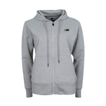 New Balance Essential Stacked Logo Women's Hoodie - Grey