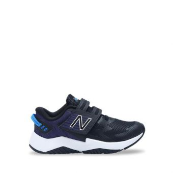 New Balance Hook and Loop Rave Run Boy's Running Shoes - Black Navy