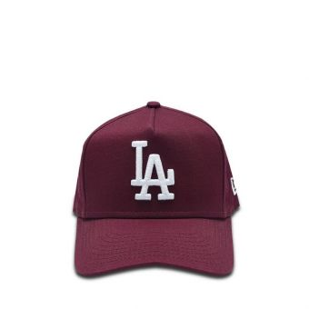 New Era Los Angeles Dodgers Essential Red A Frame Trucker Boy's Cap - Dark Purple