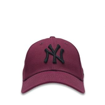 New Era New York Yankees Essential 9FORTY Boy's Cap - Dark Purple