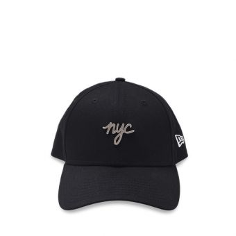 New Era NYC Metal Badge 9FORTY Men's Cap - Black
