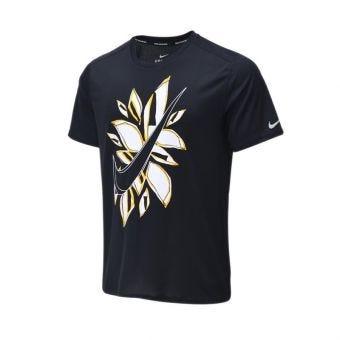 Nike Short Sleeve Men's Running Top - Black