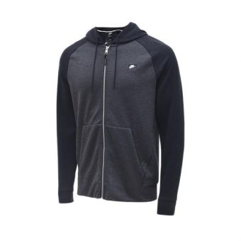 Nike Optic Full-Zip Men's Hoodie - Black