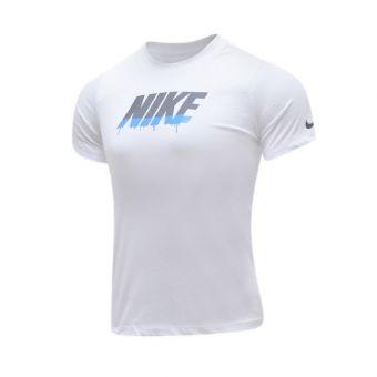 Nike Sportwear  Block Drip Boy's Tee - White