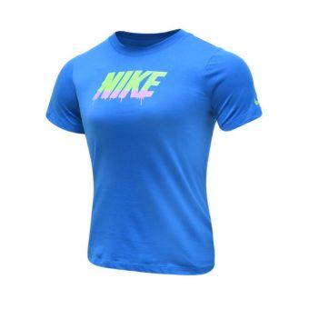 Nike Sportwear Block Drip Boy's Tee - Blue