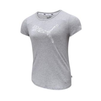 Puma Brand Graphic Women's Tee - Grey