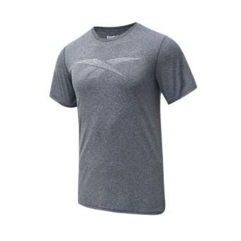 Reebok Men's Graphic Vector Tee - Dark Grey