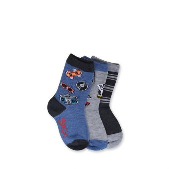 Skechers Boy's 3 Pack Crew Socks - Multicolor