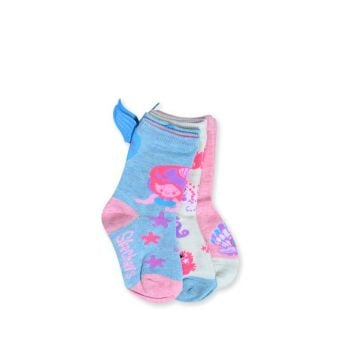 Skechers Girl's 3 Pack Crew Socks - Multicolor