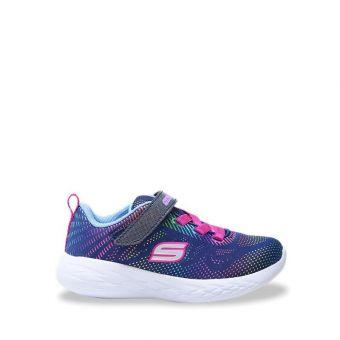 Skechers GOrun 600 - Shimmer Speed Girl's Running Shoes - Navy
