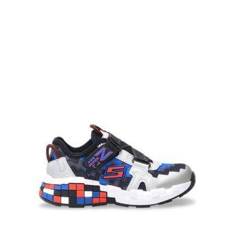 Skechers Mega-Craft - Cubotrons Boy's Sneaker Shoes - Black Red