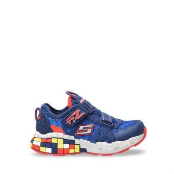 Skechers Mega-Craft - Cubotrons Boy's Sneaker Shoes - Navy Red