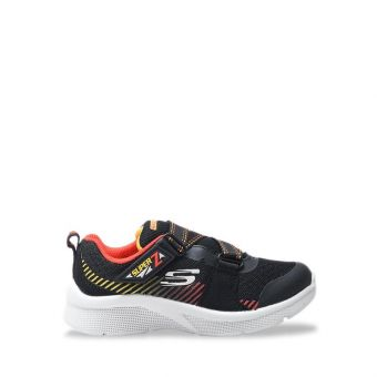 Skechers Microspec - Zovox Boy's Sneaker Shoes - Black Red
