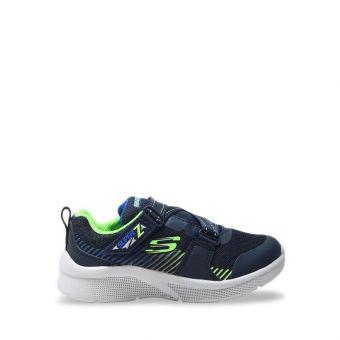 Skechers Microspec - Zovox Boy's Sneaker Shoes - Navy Lime