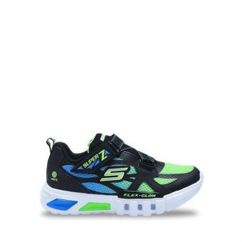 Skechers S Light: Flex Glow Boy's Sneakers Shoes - Black Lime