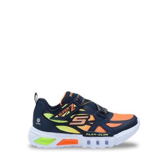 Skechers S Light: Flex Glow Boy's Sneakers Shoes - Navy Orange