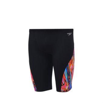Speedo AM Competition Allover V Panel Jammer Men's Swimming Trunk - Black