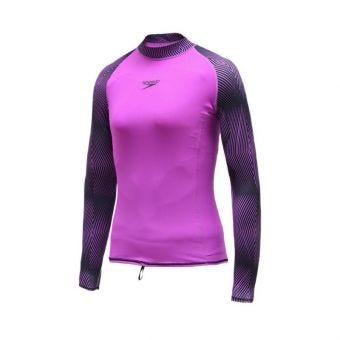Speedo AF Pulse Rashguard Long Sleeve Women's Swimwear - Purple/Black